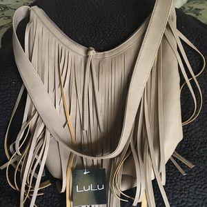 NWT Lulu beige purse handbag
